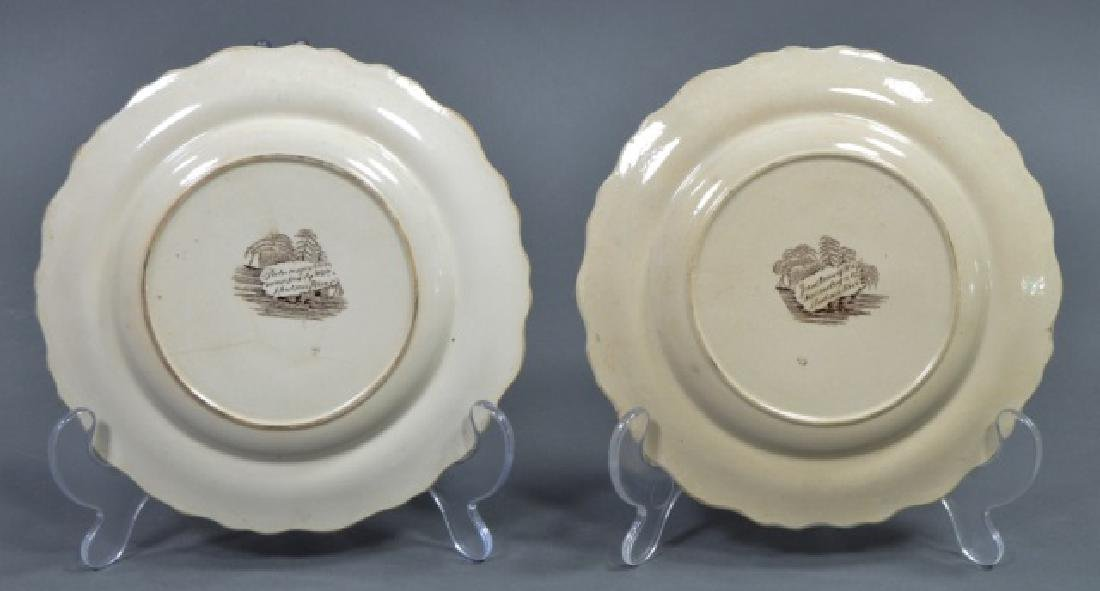Group of Early American Transferware Plates - 8