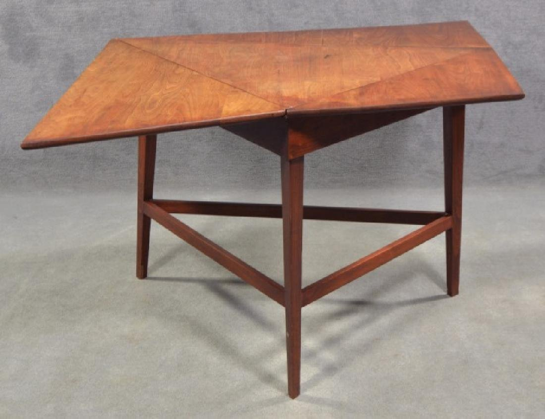 Mid-Century Modern Drop Leaf Occasional Table - 2