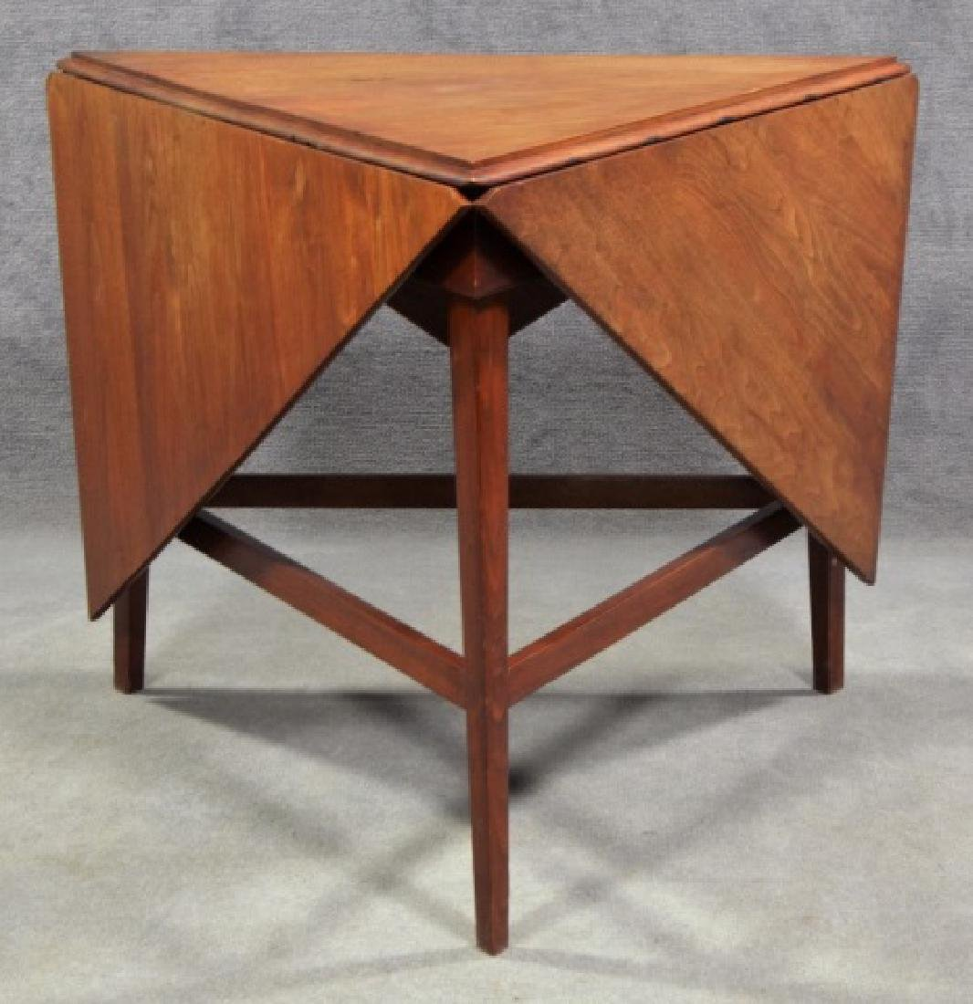 Mid-Century Modern Drop Leaf Occasional Table - 6