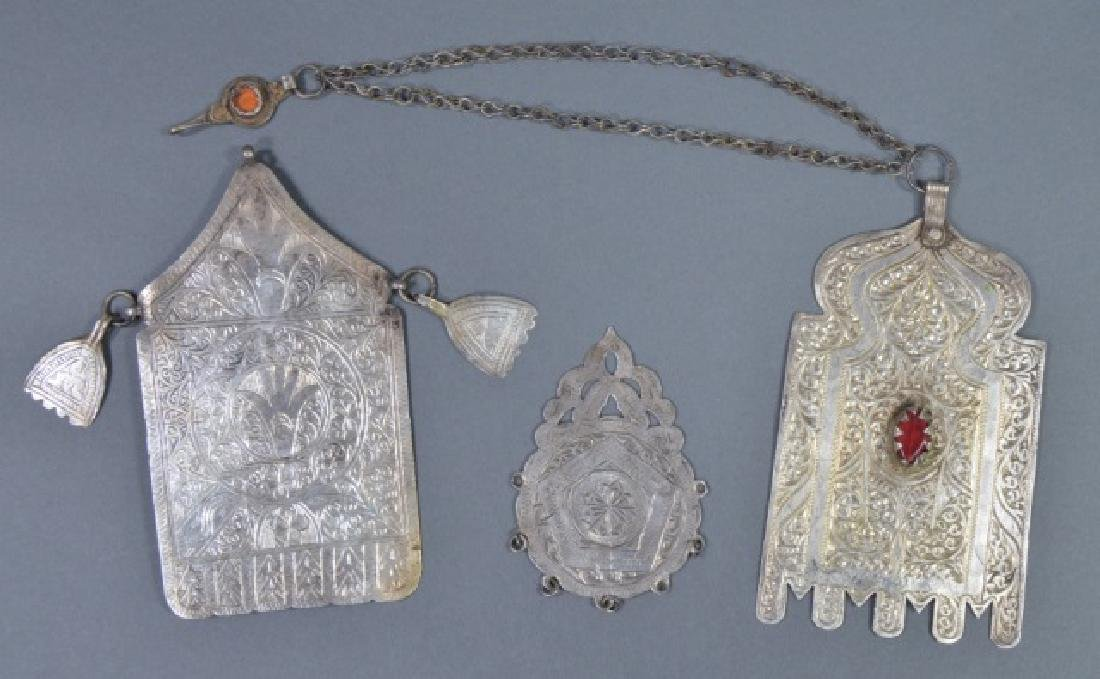 Three North African Silver Pendants