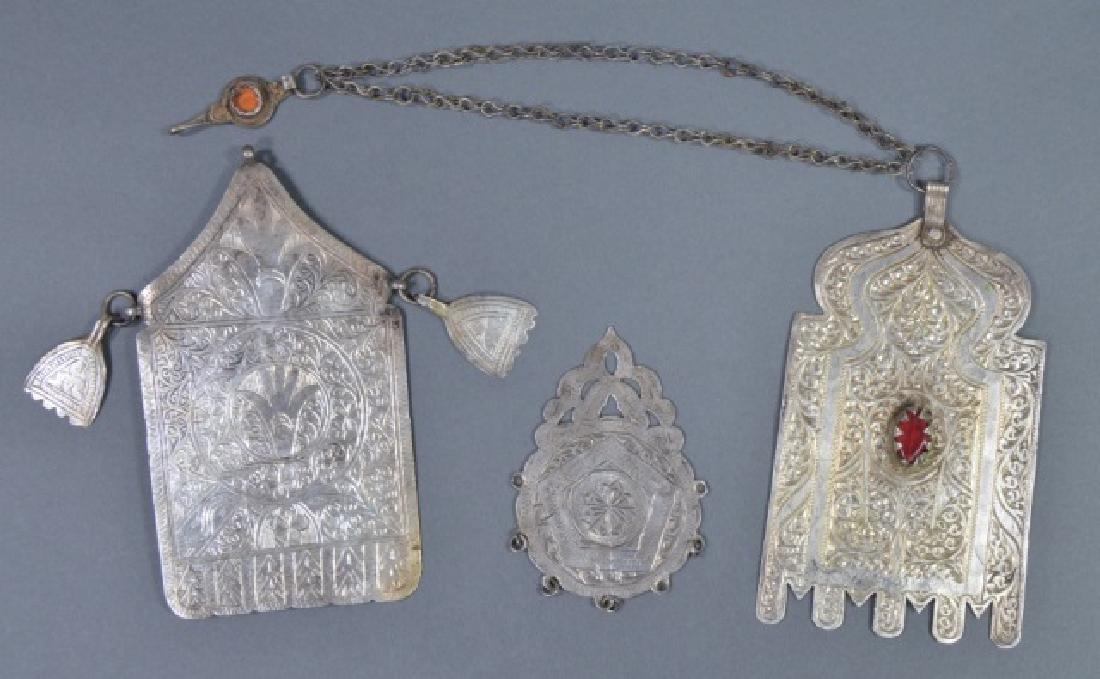 Three North African Silver Pendants
