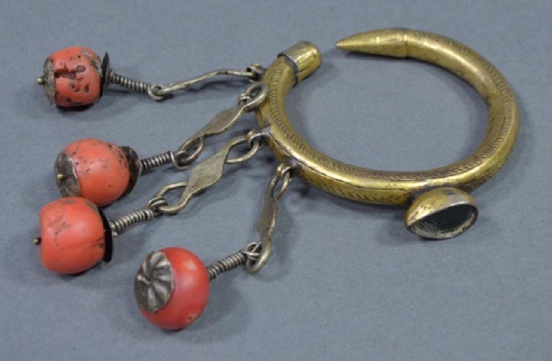 Three Pieces of North African Red Coral Jewelry - 5