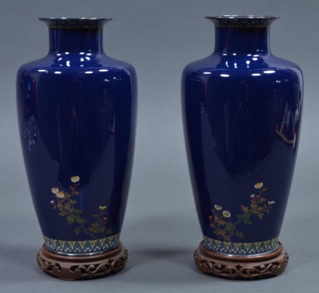 Pair of Japanese Cloisonné Vases - 2