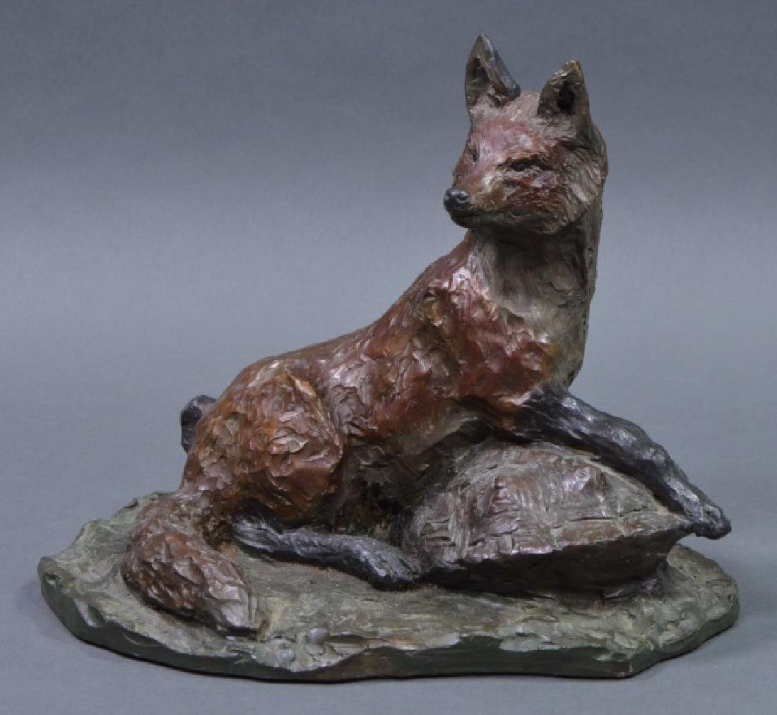 """Fox & Terrapin"" Bronze Sculpture"