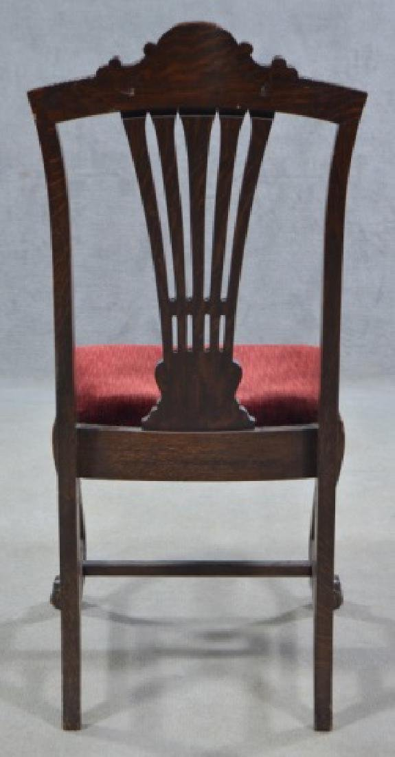 Set of Four Oak Dining Chairs - 8