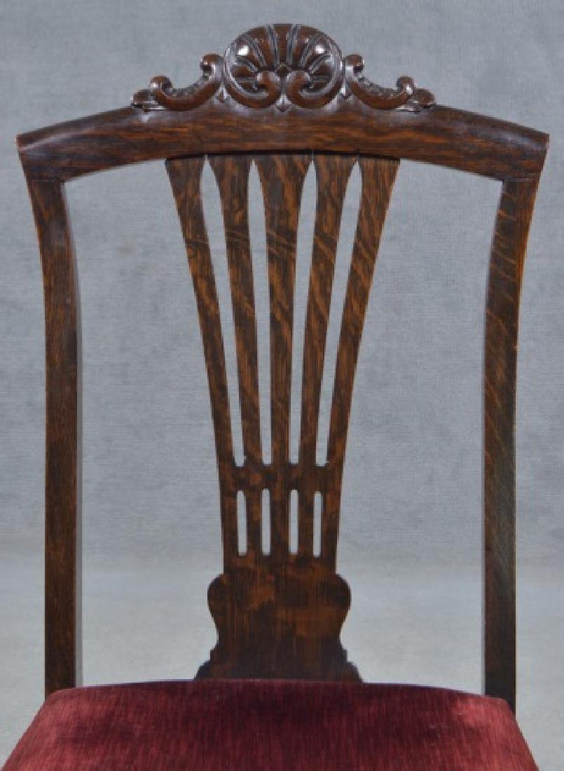 Set of Four Oak Dining Chairs - 9