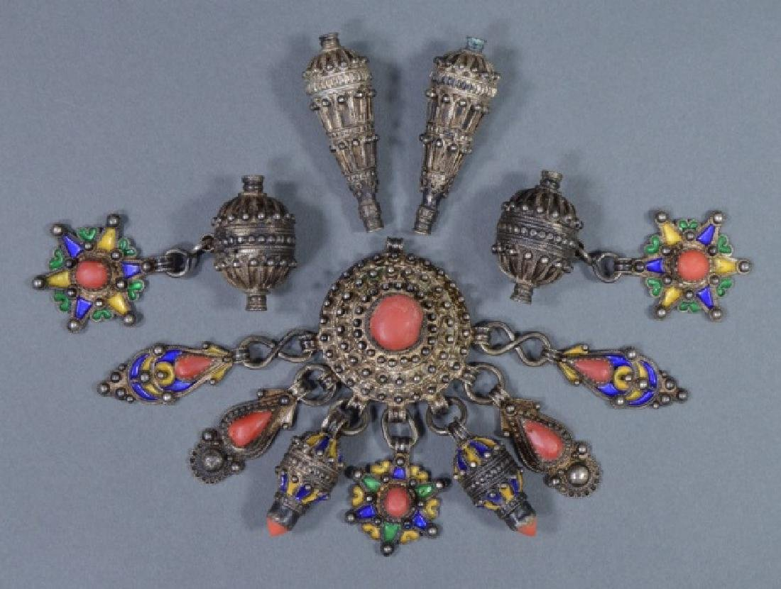 Group of North African Silver Pendants