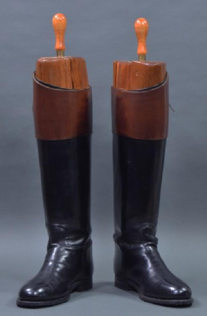 Custom Pair of Men's Leather Fox Hunting Boots