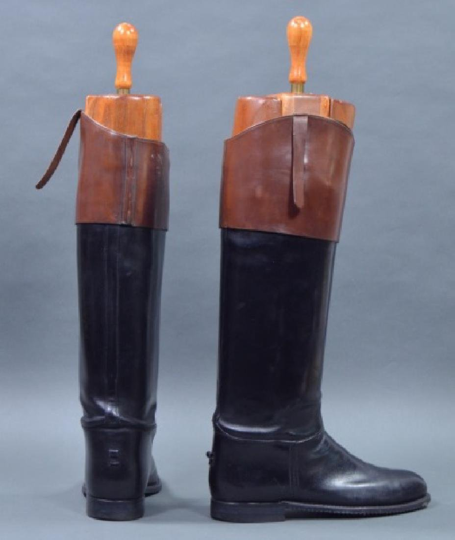 Custom Pair of Men's Leather Fox Hunting Boots - 2