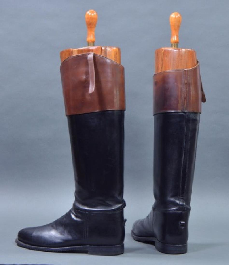 Custom Pair of Men's Leather Fox Hunting Boots - 3