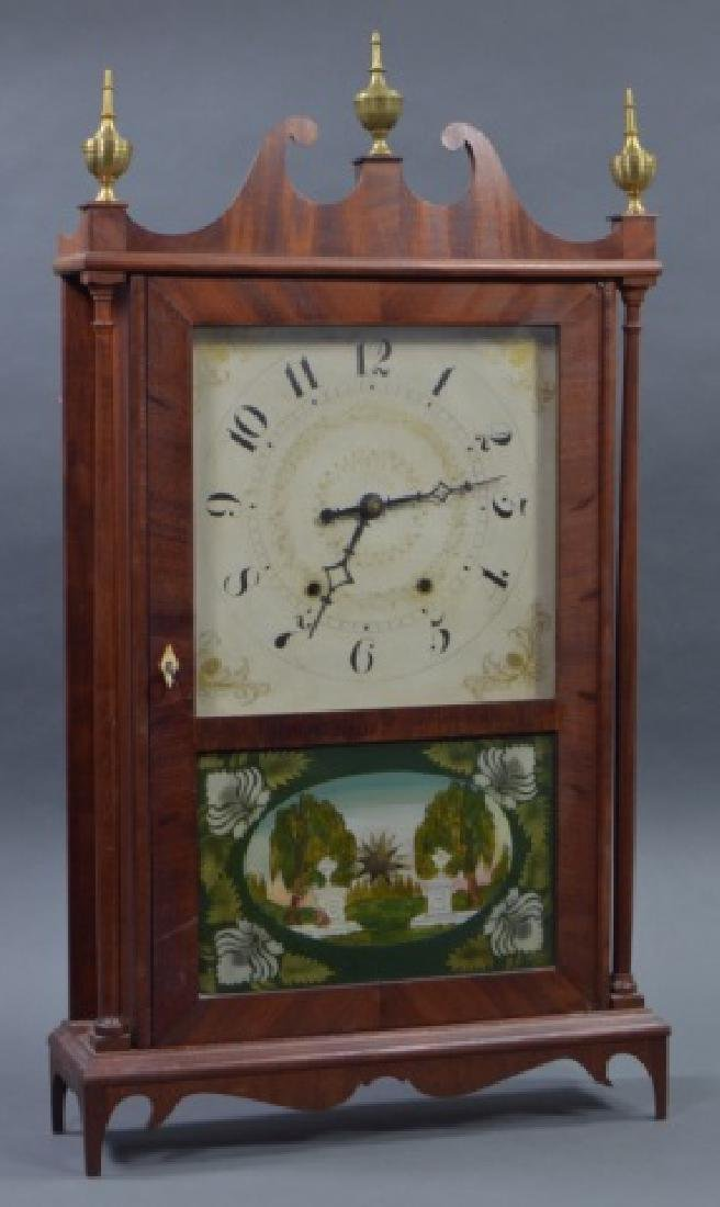 Pillar and Scroll Shelf Clock