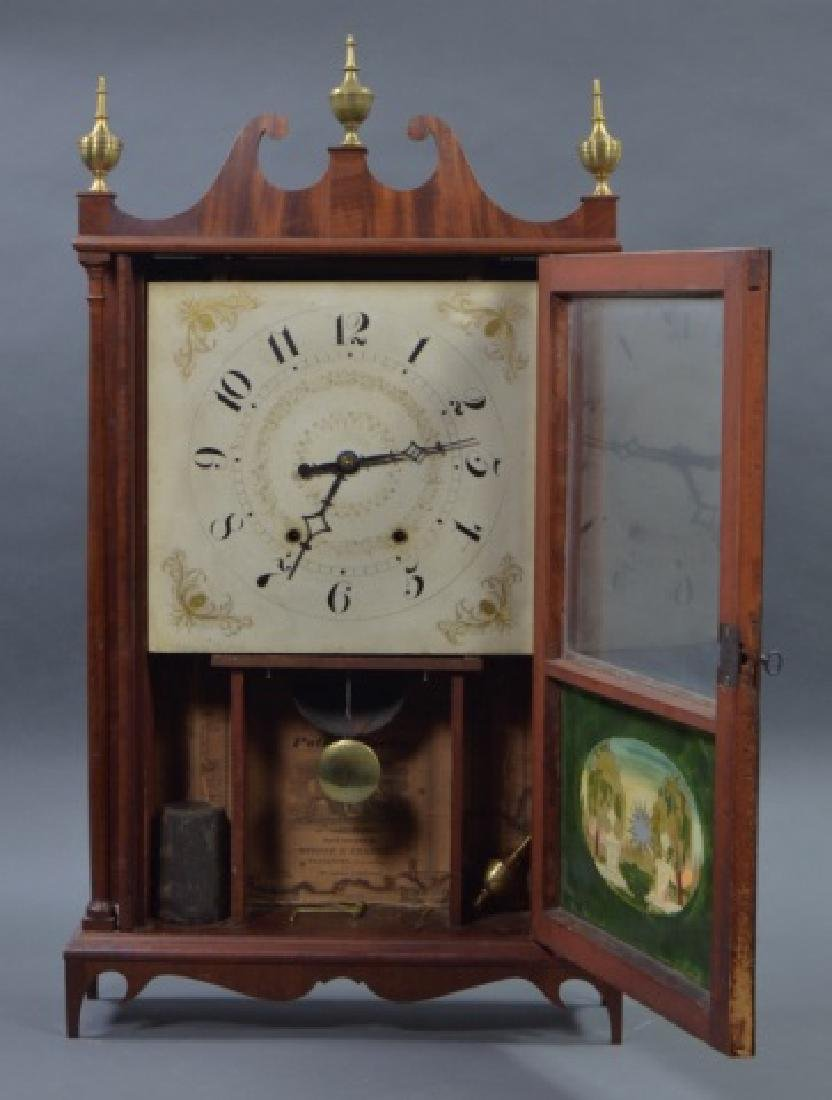 Pillar and Scroll Shelf Clock - 3