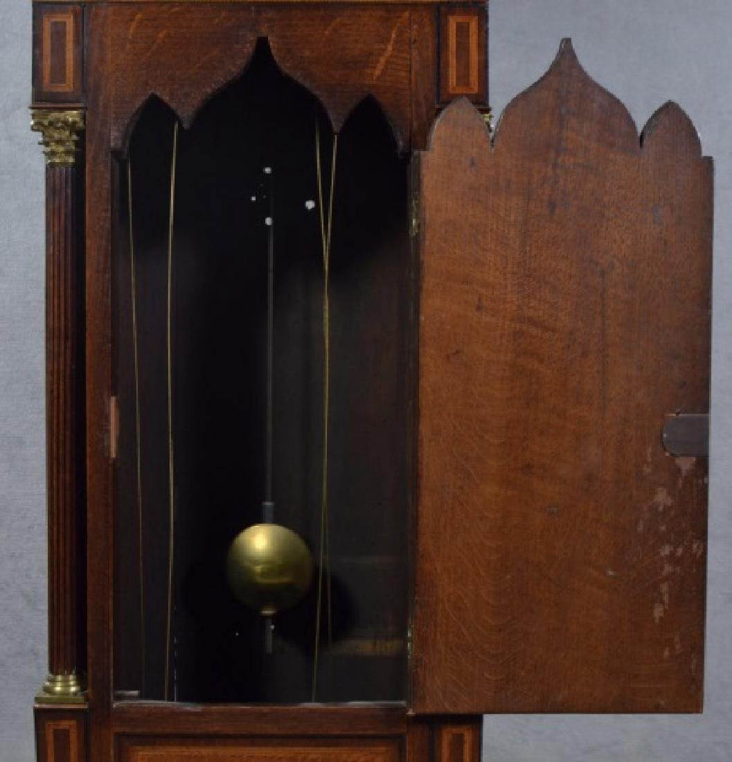 Oak and Mahogany English Tall Case Clock - 10