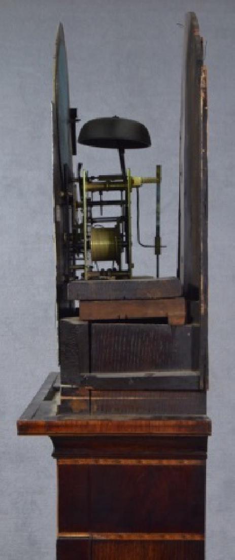 Oak and Mahogany English Tall Case Clock - 12