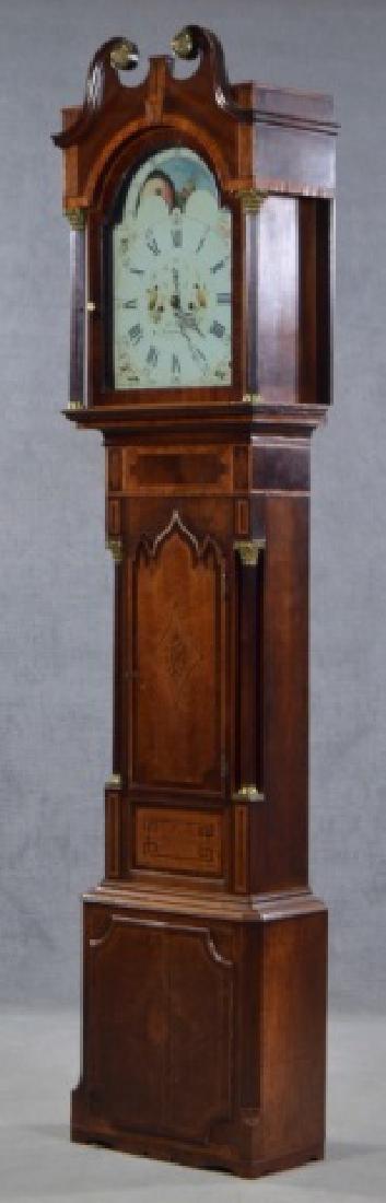 Oak and Mahogany English Tall Case Clock - 2