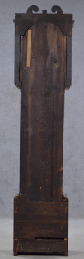 Oak and Mahogany English Tall Case Clock - 4