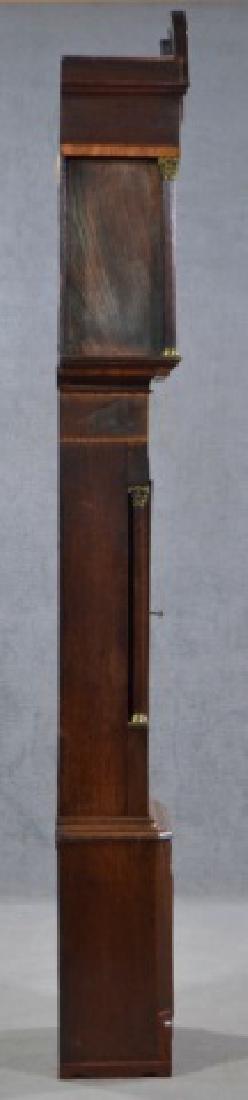 Oak and Mahogany English Tall Case Clock - 5