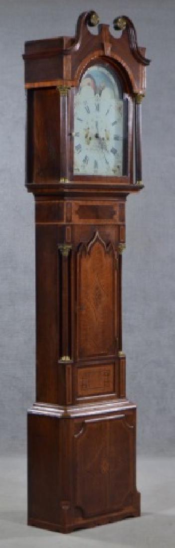 Oak and Mahogany English Tall Case Clock - 6