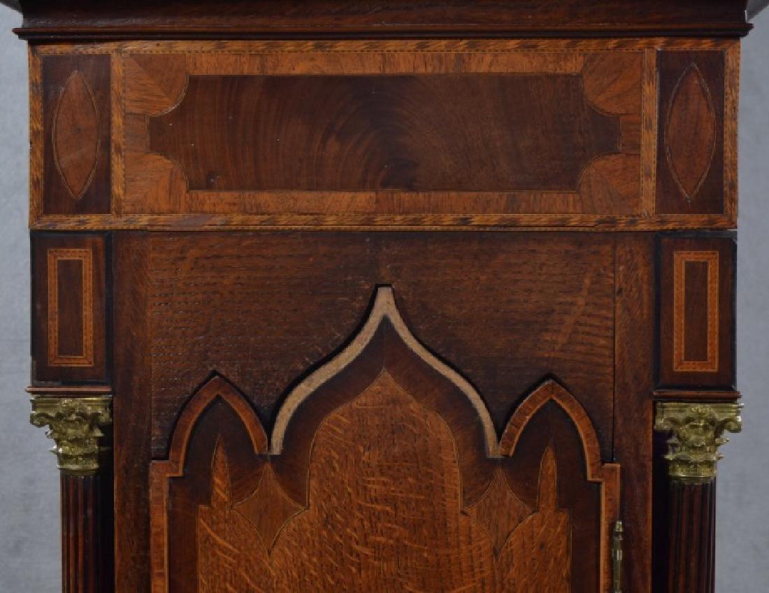 Oak and Mahogany English Tall Case Clock - 7