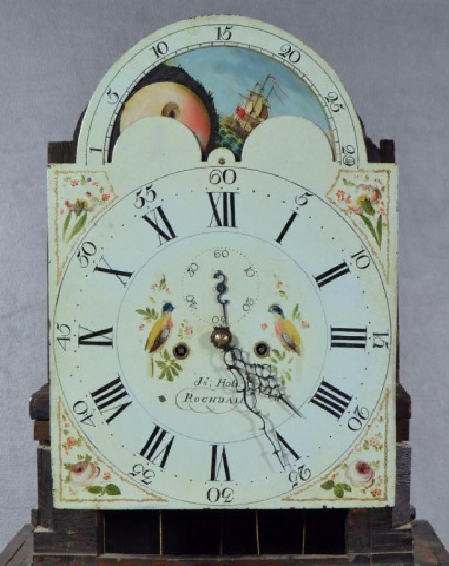 Oak and Mahogany English Tall Case Clock - 8
