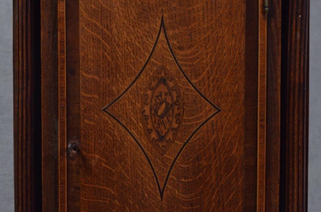 Oak and Mahogany English Tall Case Clock - 9