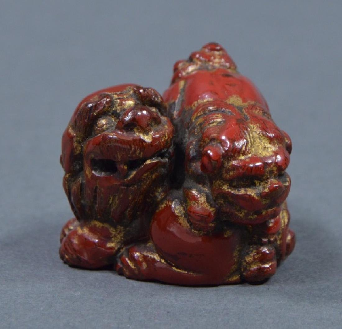 Antique Red Lacquer Netsuke