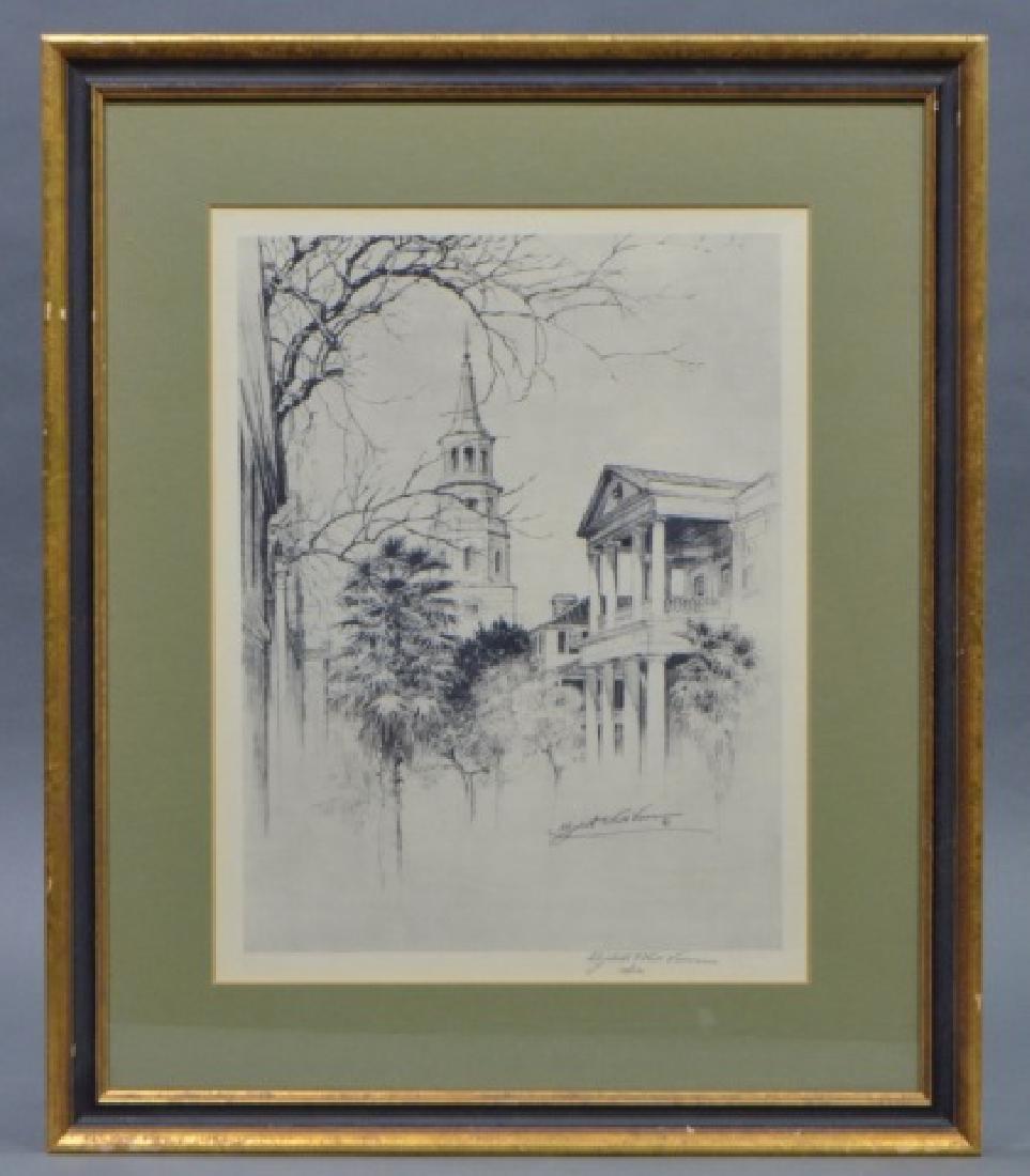 Elizabeth O'Neill Verner Lithograph of Charleston