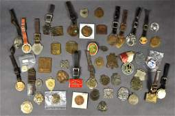Group of 30 Miscellaneous Watch Fobs  Medals