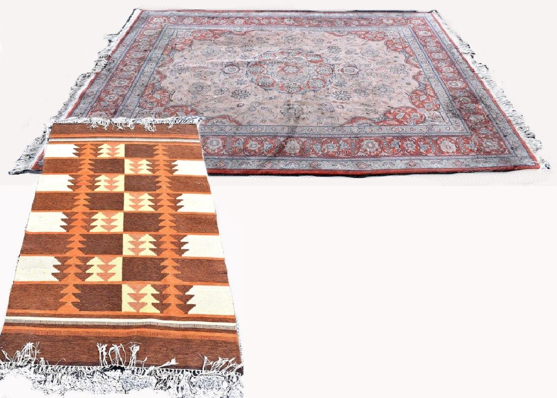 Oriental Design Wool on Cotton Rug