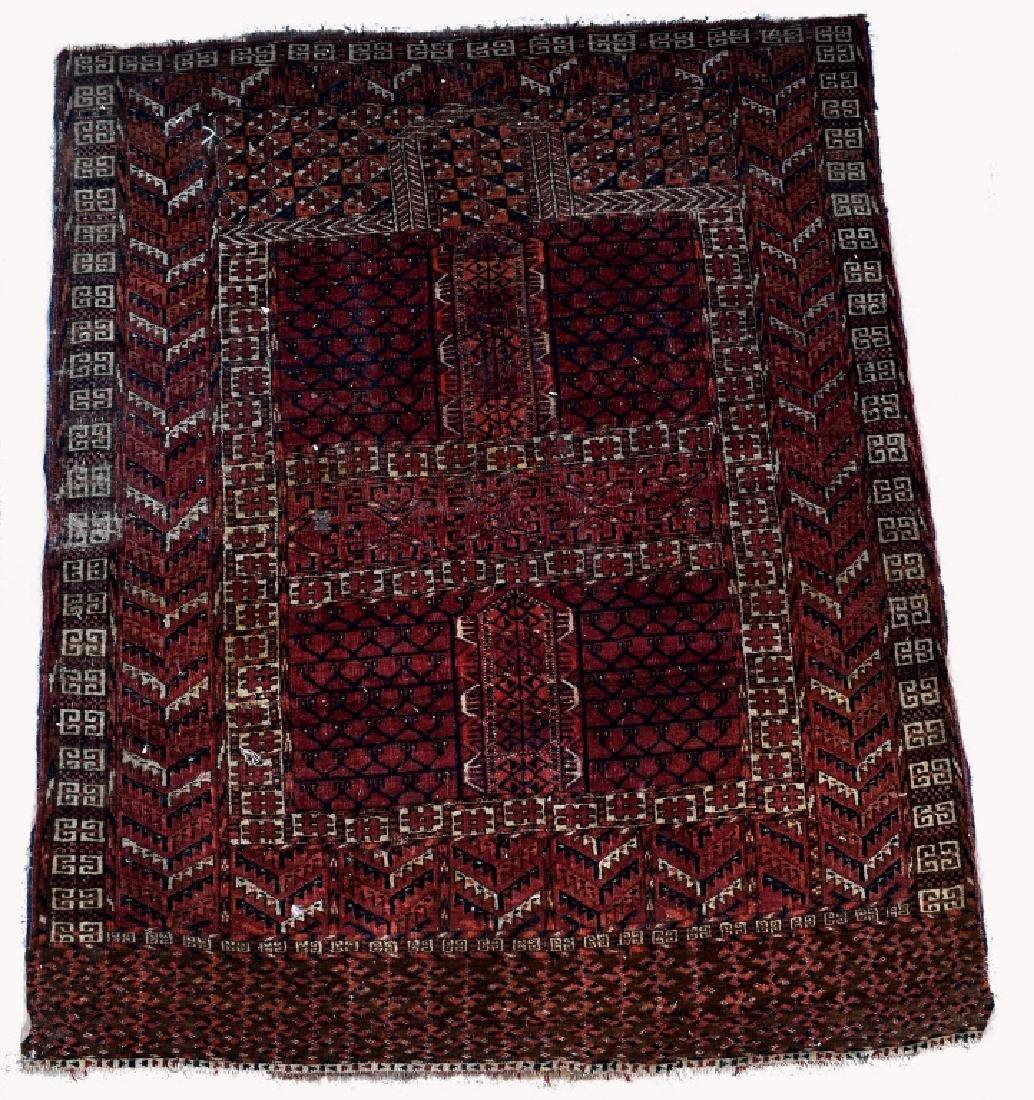 Turkoman Wool on Woon Prayer Rug