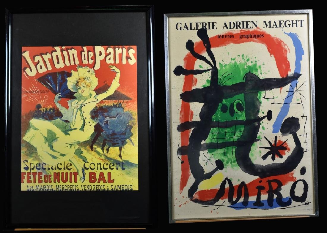 Miro Lithograph & Jardin de Paris Poster