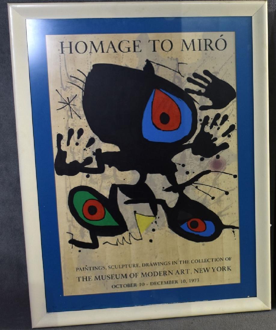 Homage to Miro Exhibition Poster, 1973