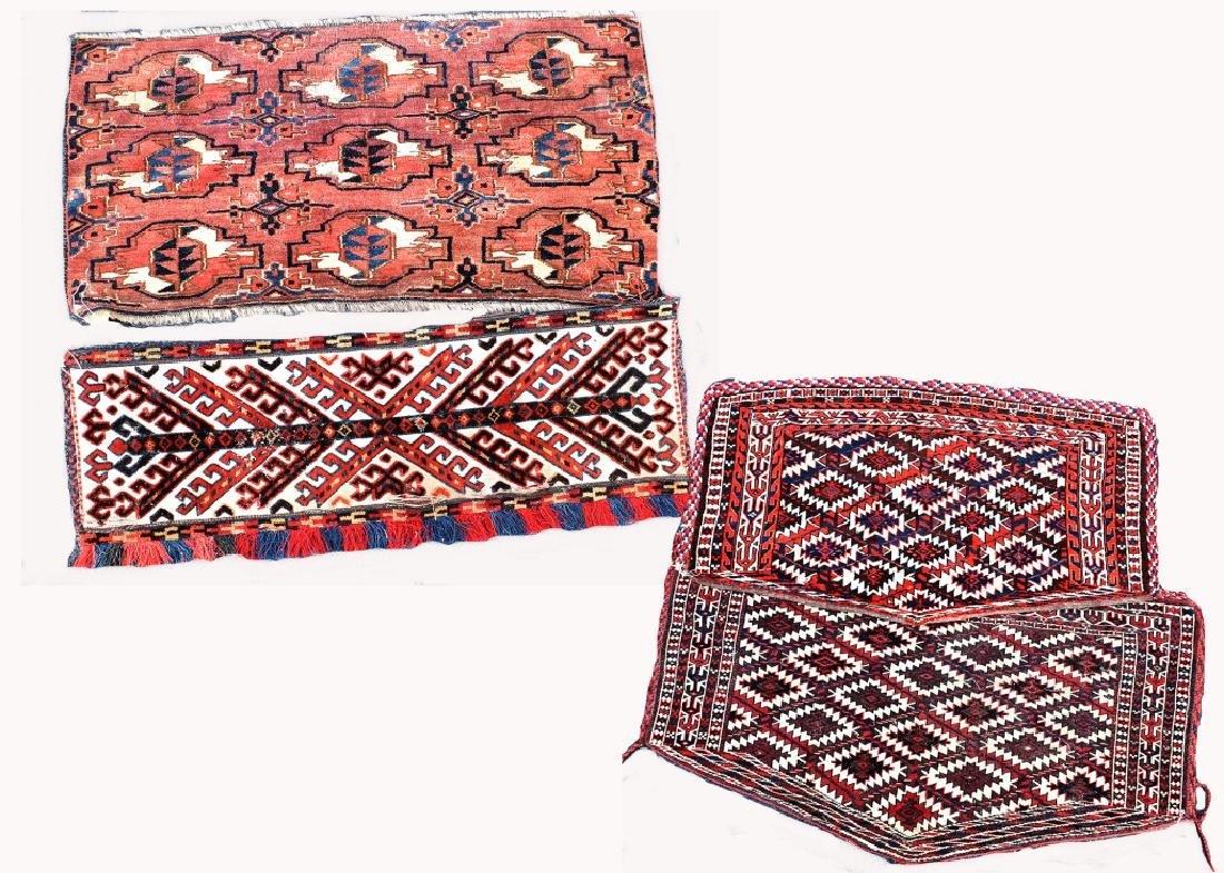 4 Turkoman Wool on Wool Pieces
