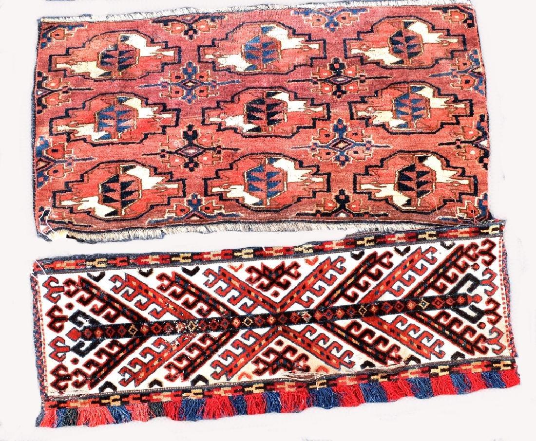 4 Turkoman Wool on Wool Pieces - 2