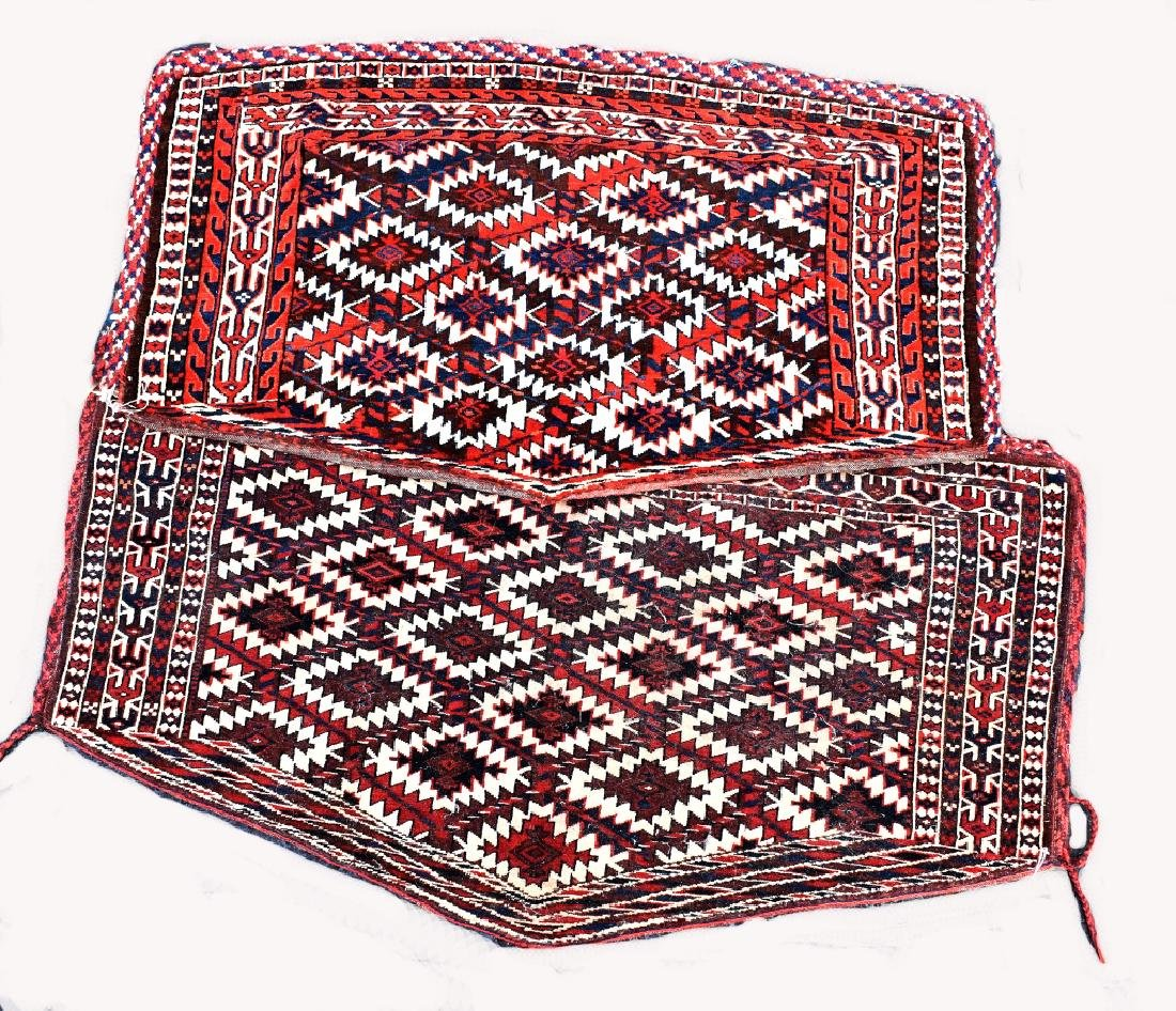 4 Turkoman Wool on Wool Pieces - 3