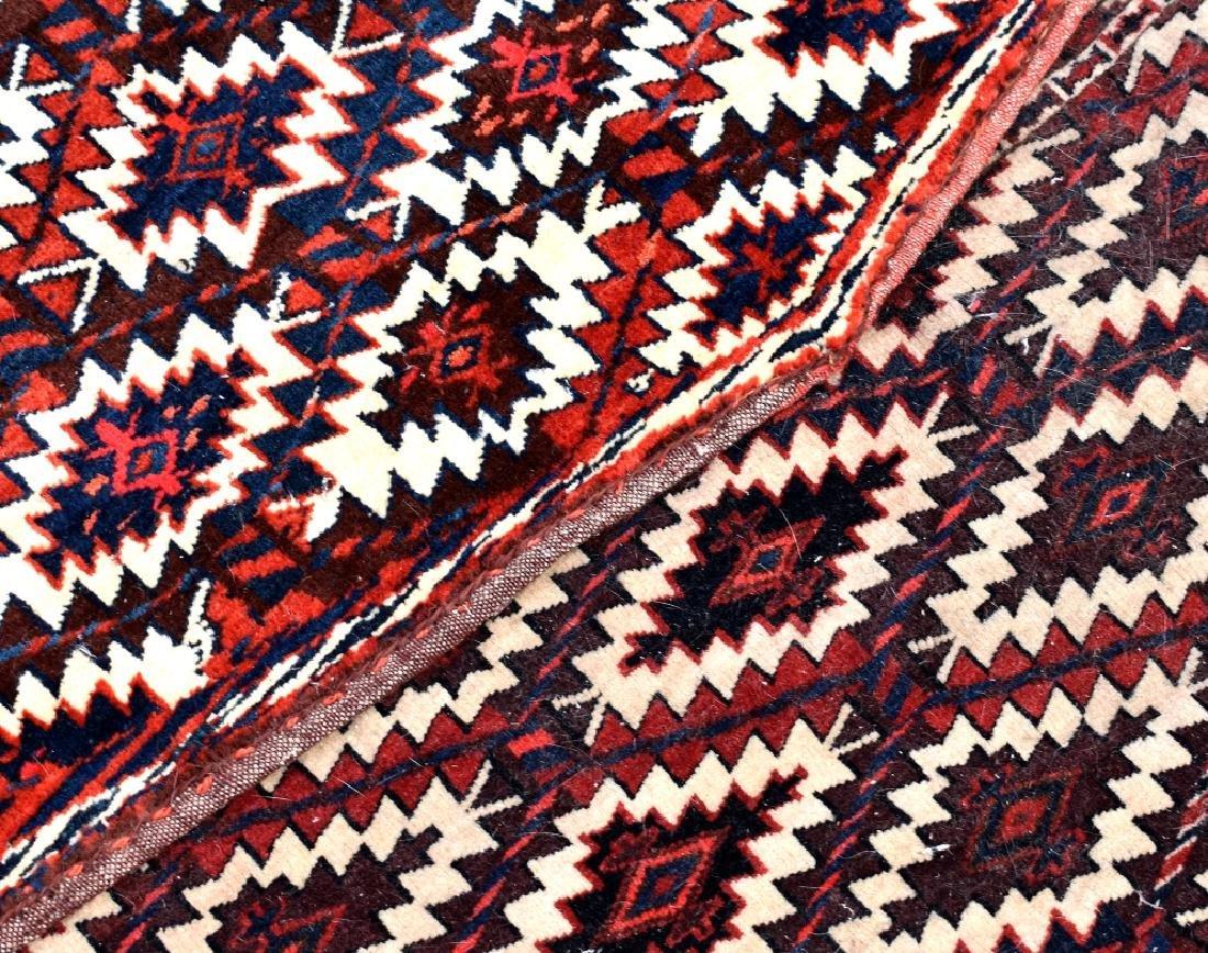 4 Turkoman Wool on Wool Pieces - 4