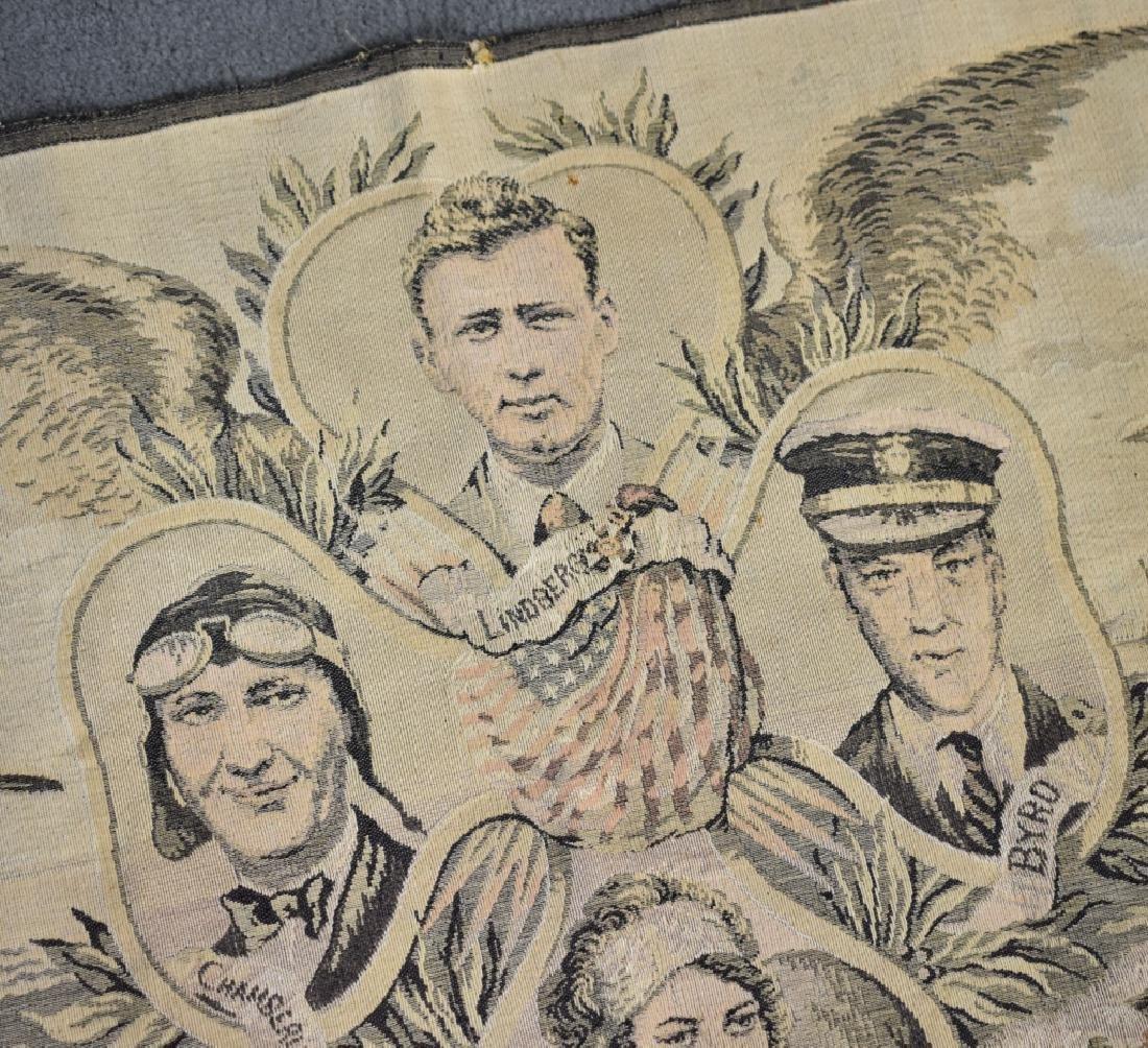 1920's Tapestry Lindburg Chamberlain Byrd Elder - 2