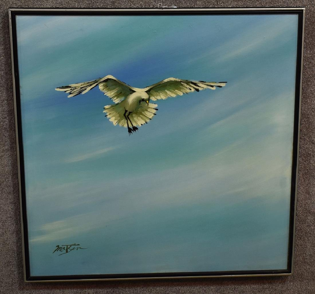 Acrylic on Canvas, Seagull Painting, signed Matson