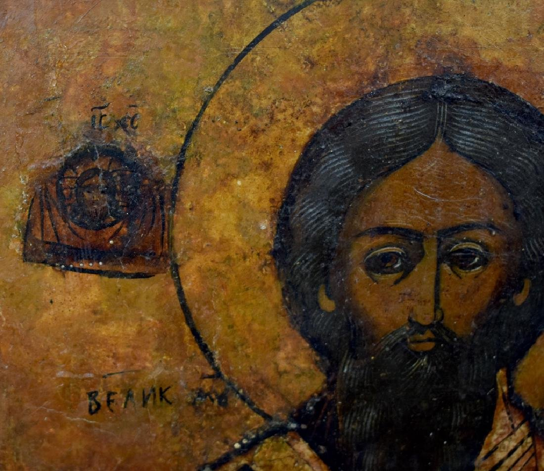 Oil on Splined Board Icon of Christ Pantocrater - 3