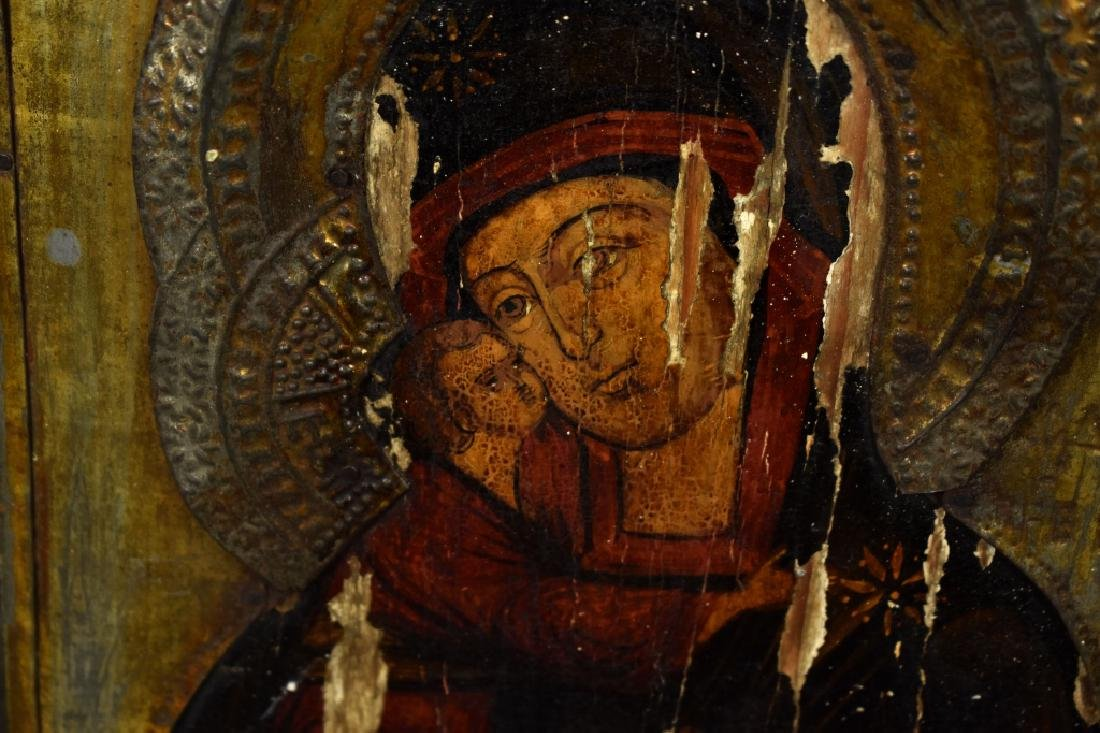 "Oil on Splined Board Icon ""Mother of God with Child"" - 3"