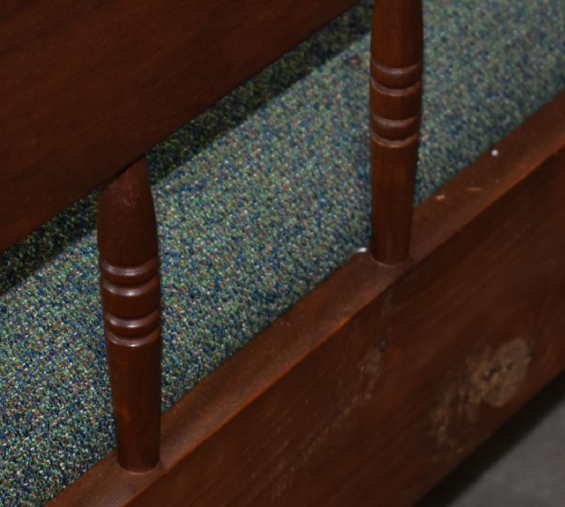 Pair of Walnut Benchmade Day Beds - 11
