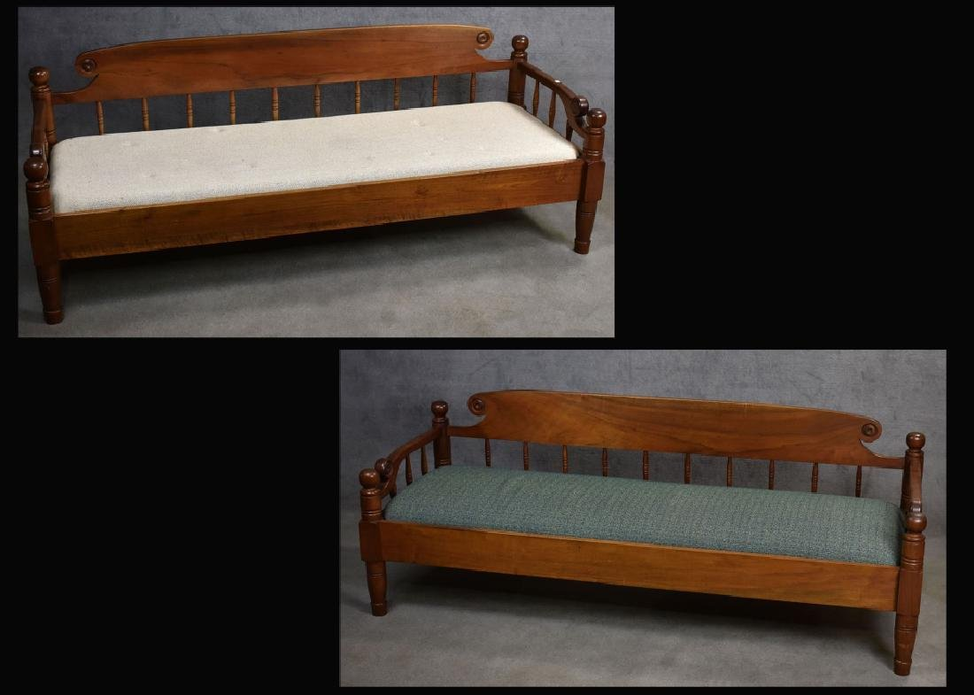 Pair of Walnut Benchmade Day Beds