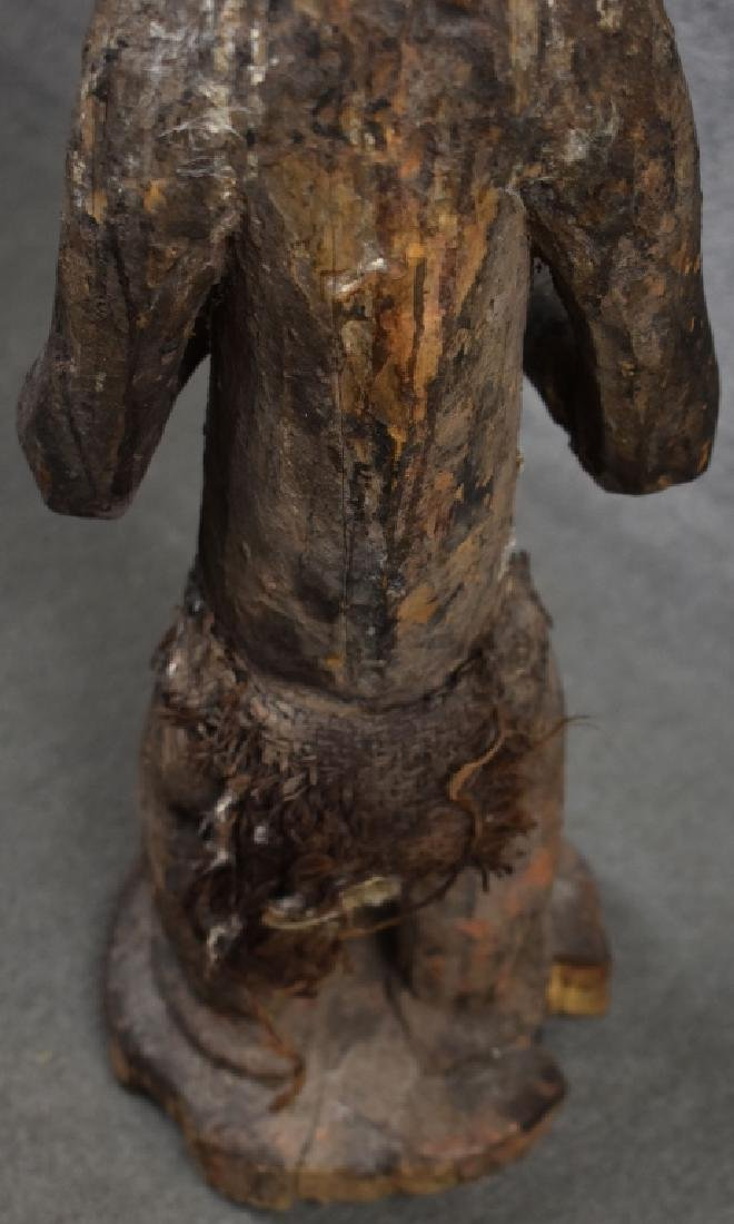 West African Baule Monkey Figure - 4