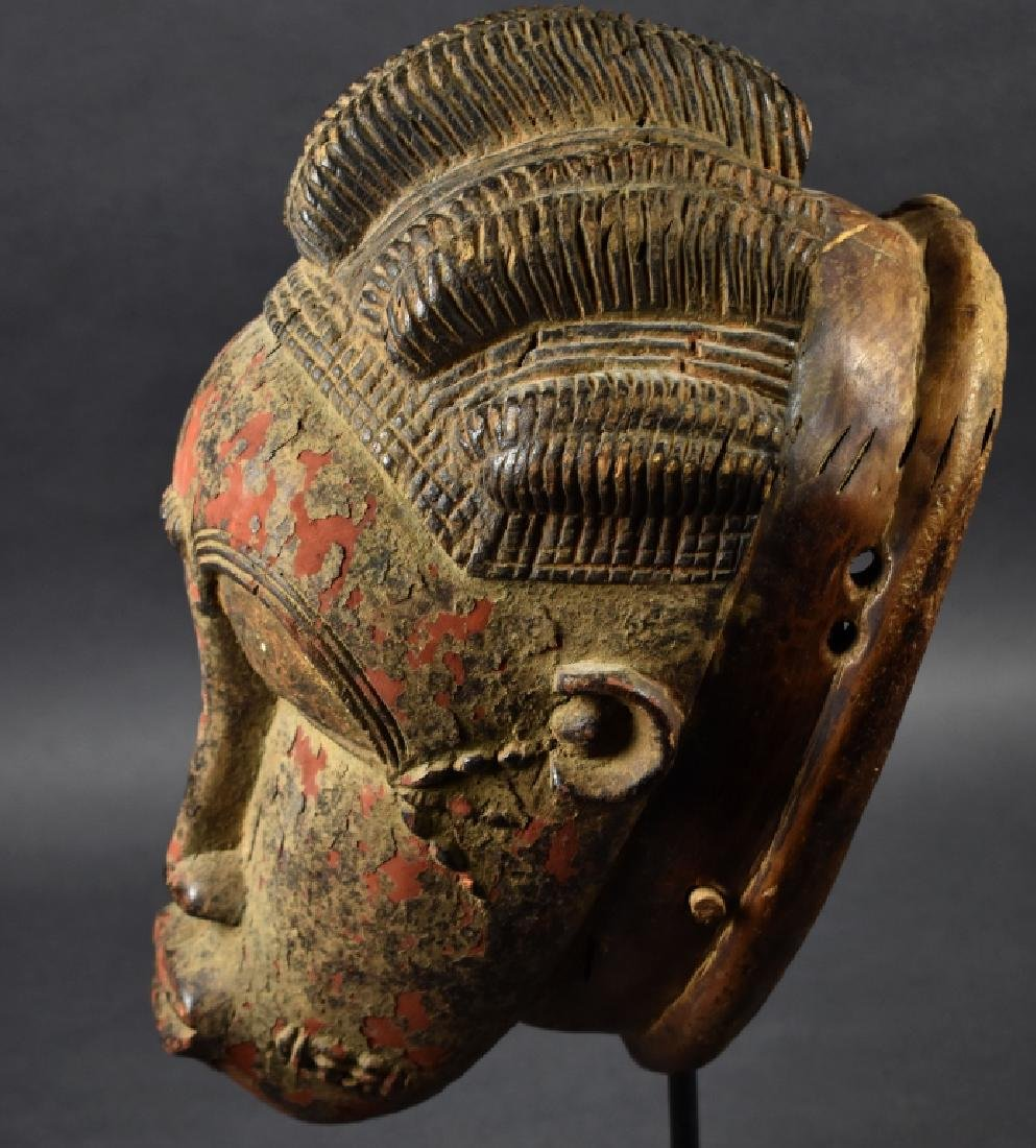 West African Baule Mask on Stand - 2