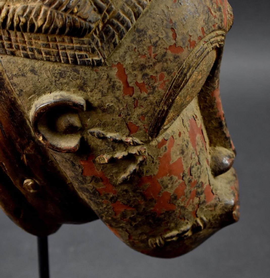 West African Baule Mask on Stand - 4