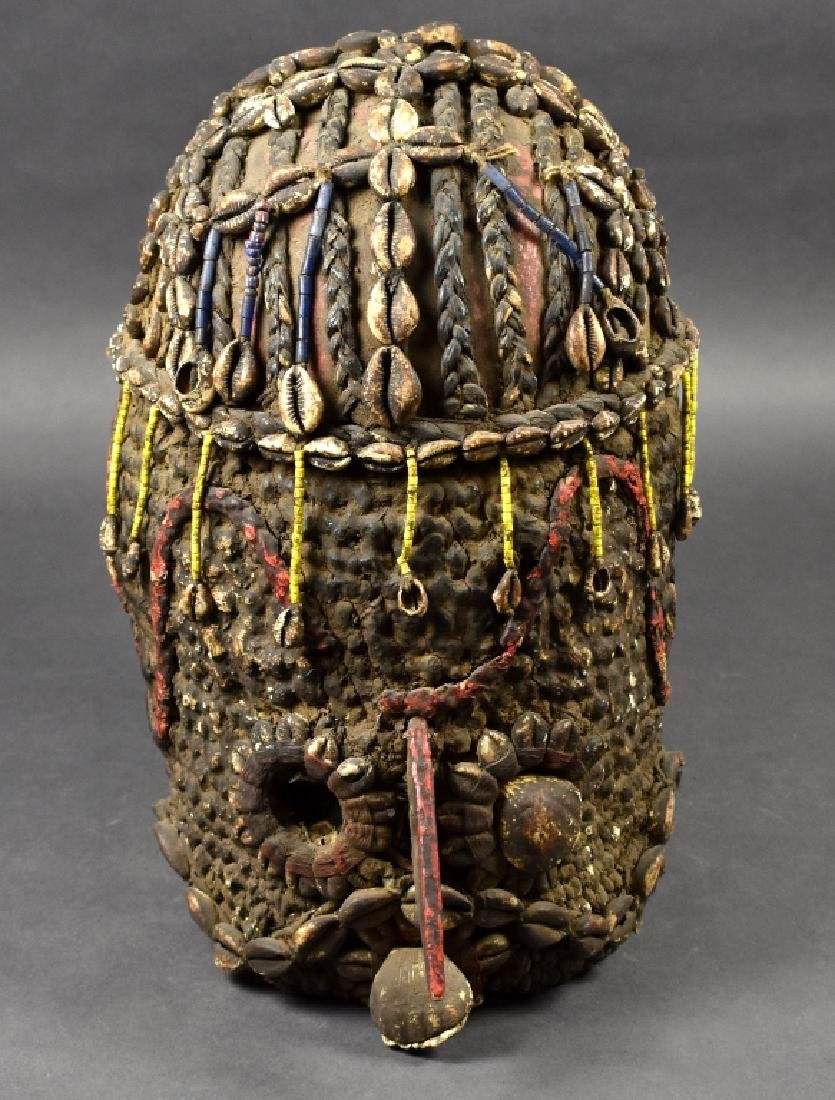Unknown African Mask with Cowrie Shells