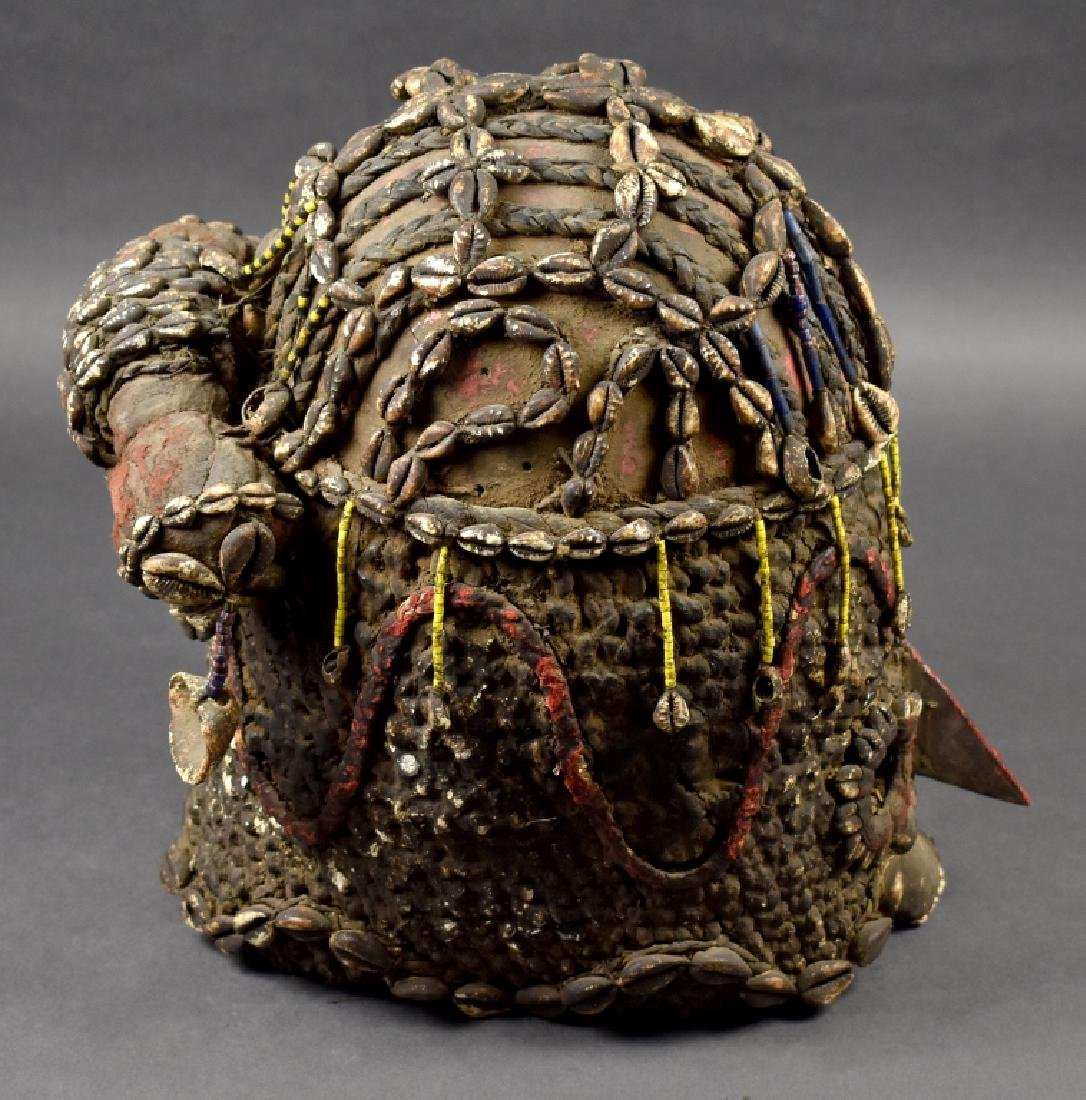 Unknown African Mask with Cowrie Shells - 2