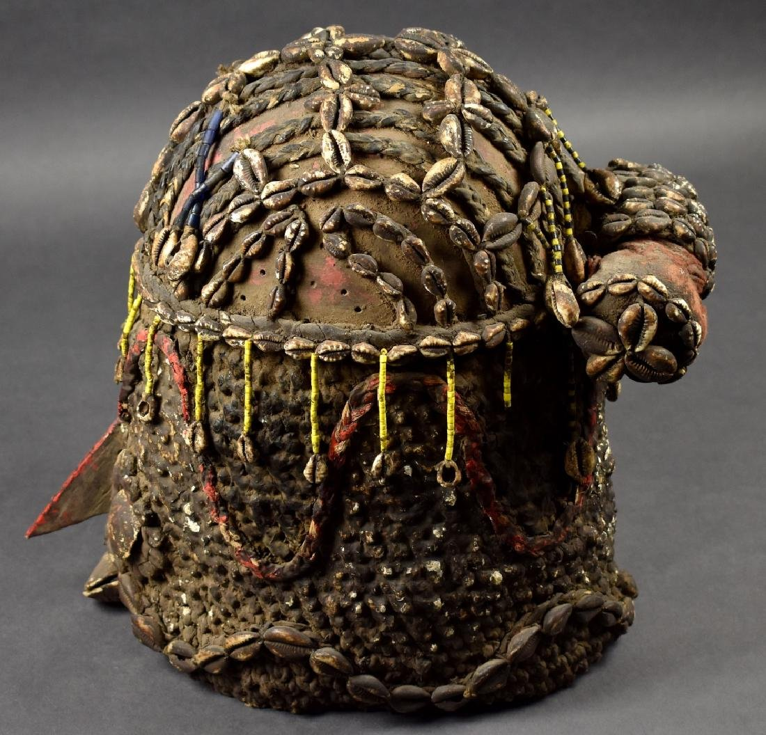 Unknown African Mask with Cowrie Shells - 3