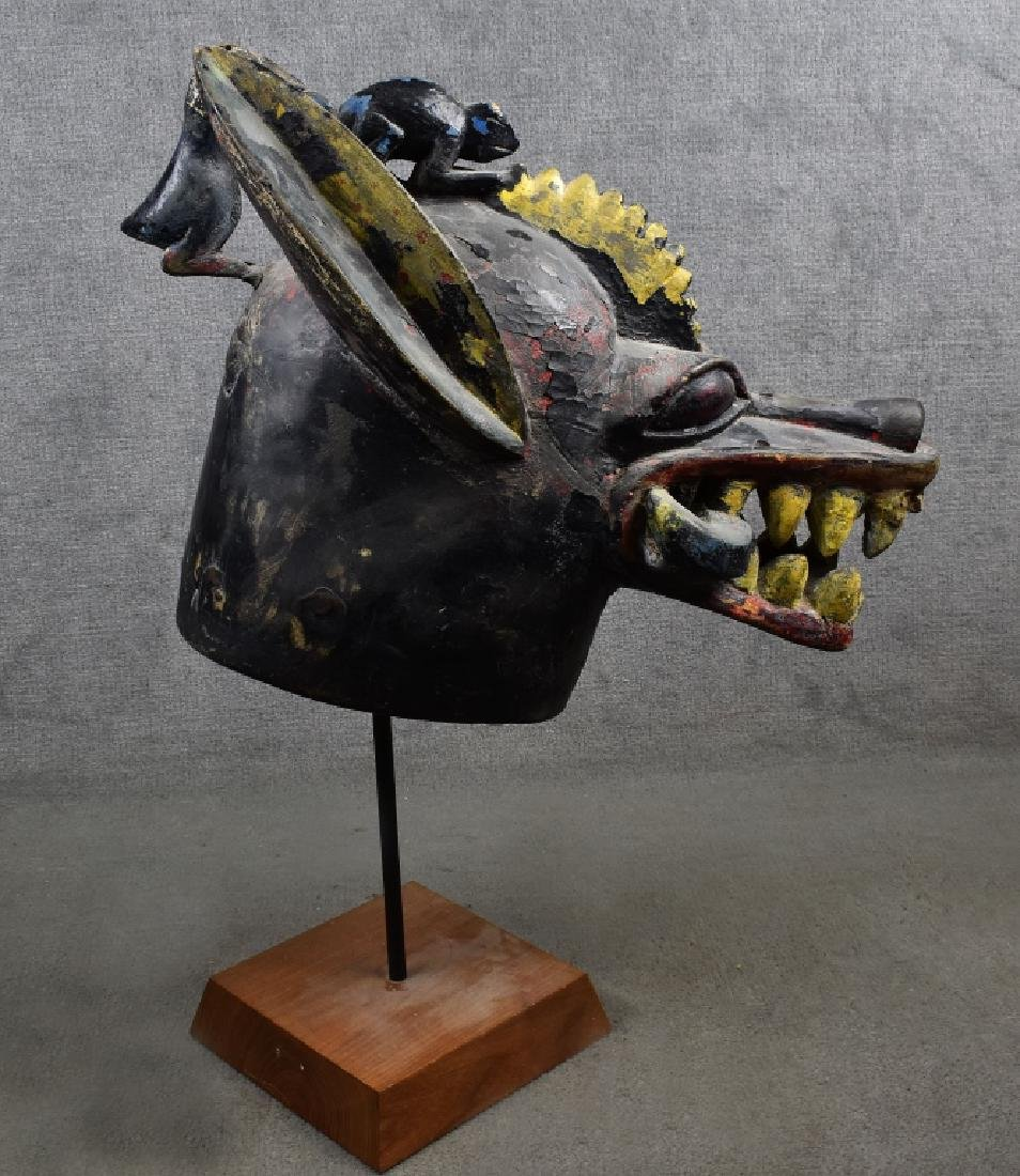 Ekoi Leather Headdress