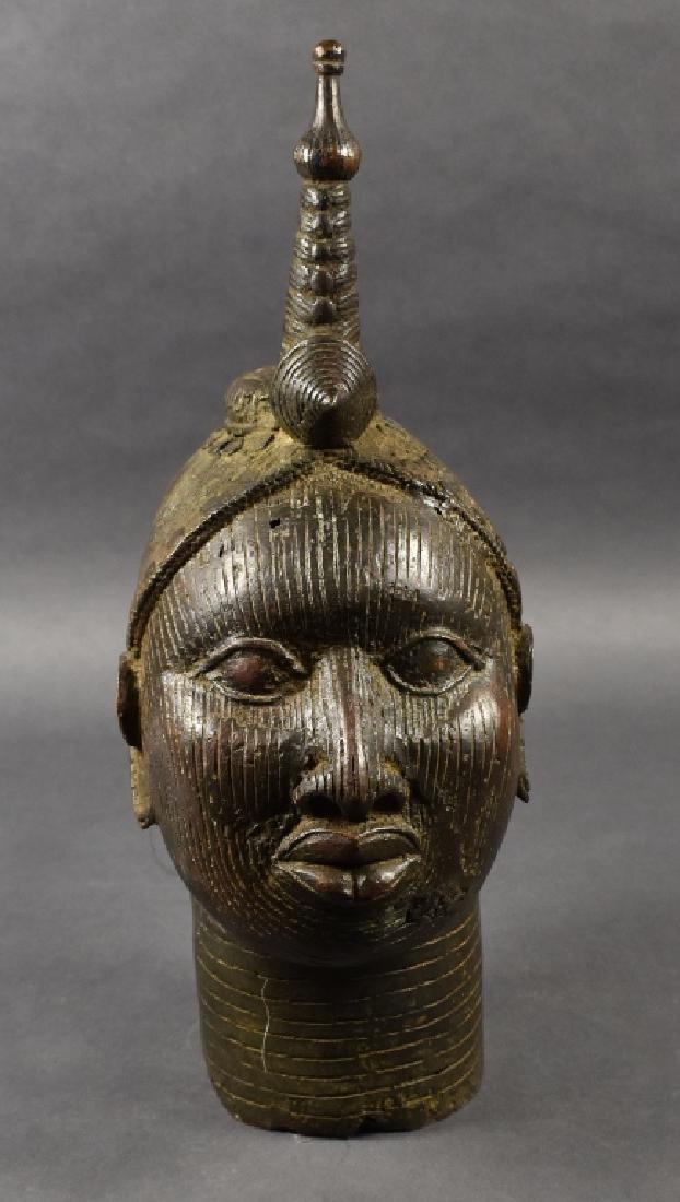 Bronze Benin Oba Figure
